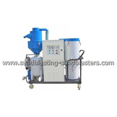 FB-D01 Dustless Sandblasting Equipment with automatic abrasive recycling